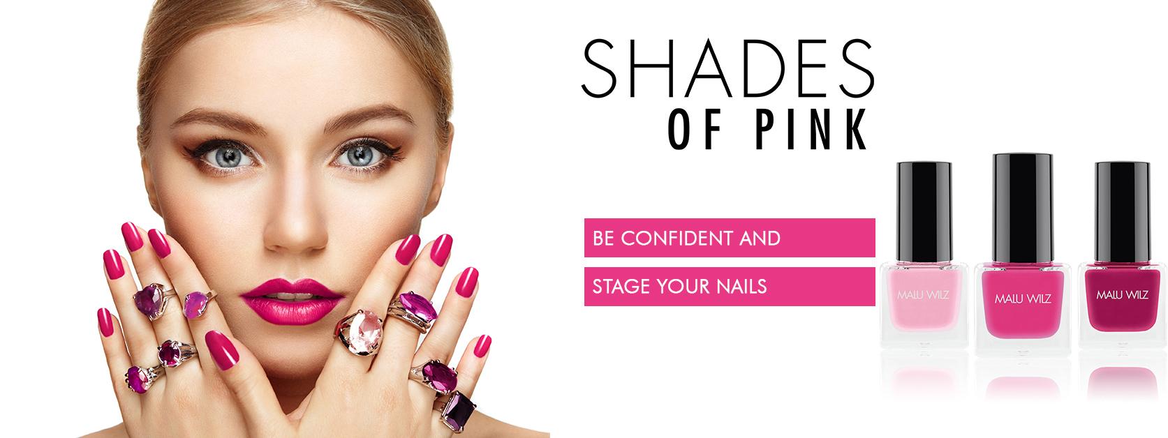 young woman with nail polish