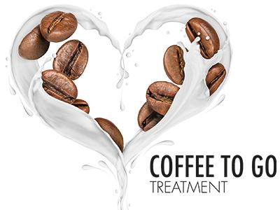 Milch und Kaffeebohnen