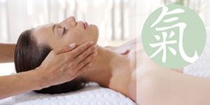 young woman at massage