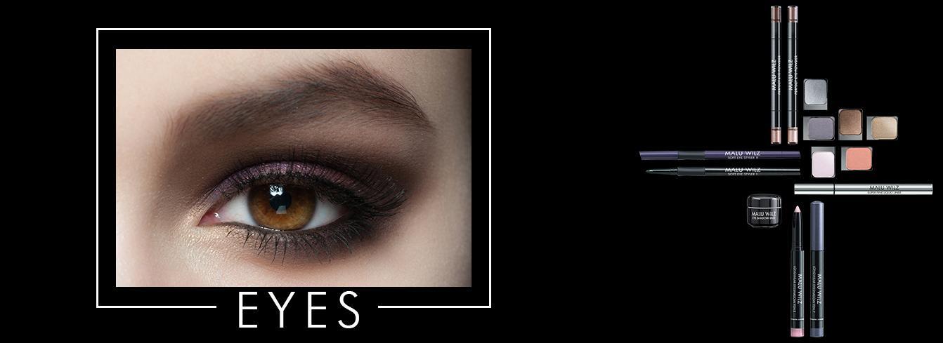 eye with eye shadow and eye liner makeup