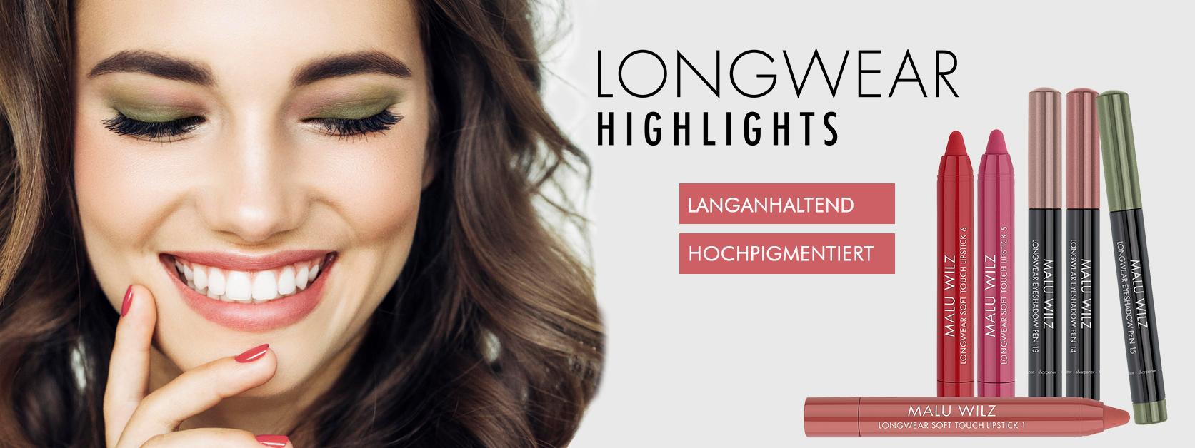 junge Frau mit Augen-Make up und Lippenstift