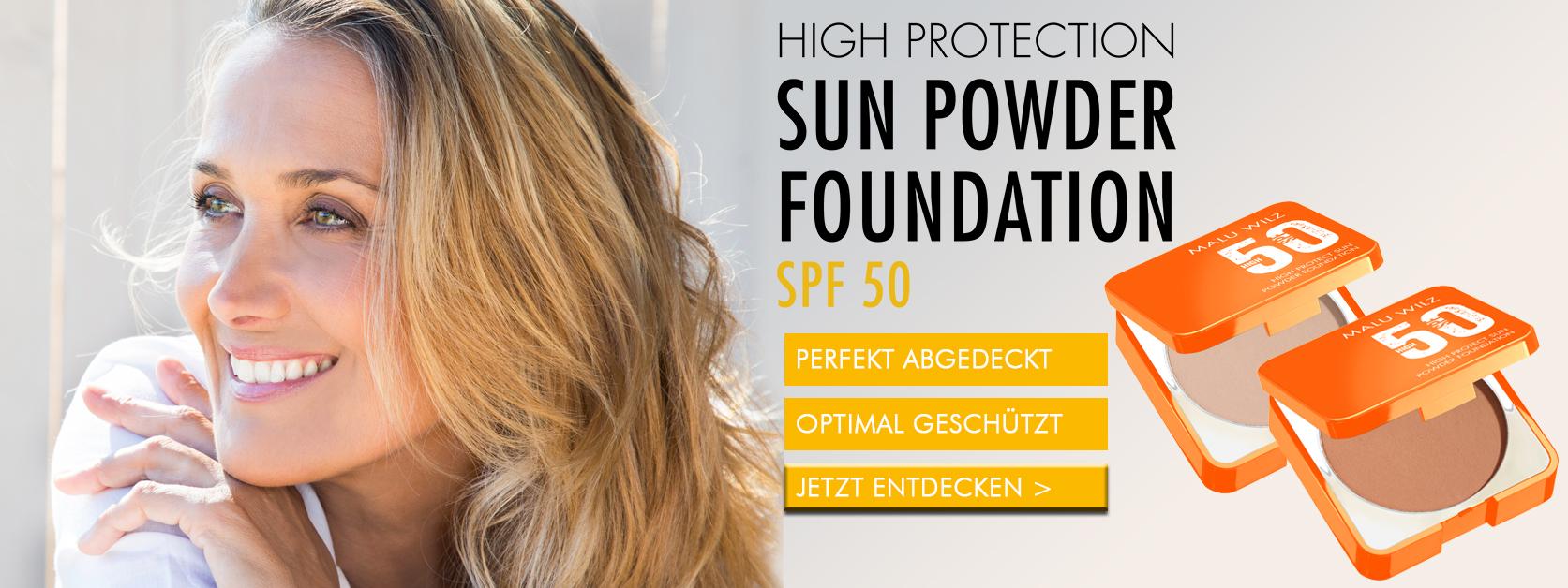 Frau mit Sun Powder