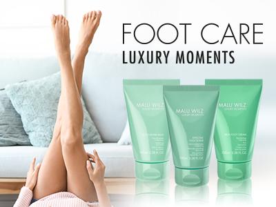 Gepflegte Füße mit Fußpflege Produkten