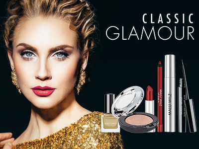 junge Frau mit Glamour Make up