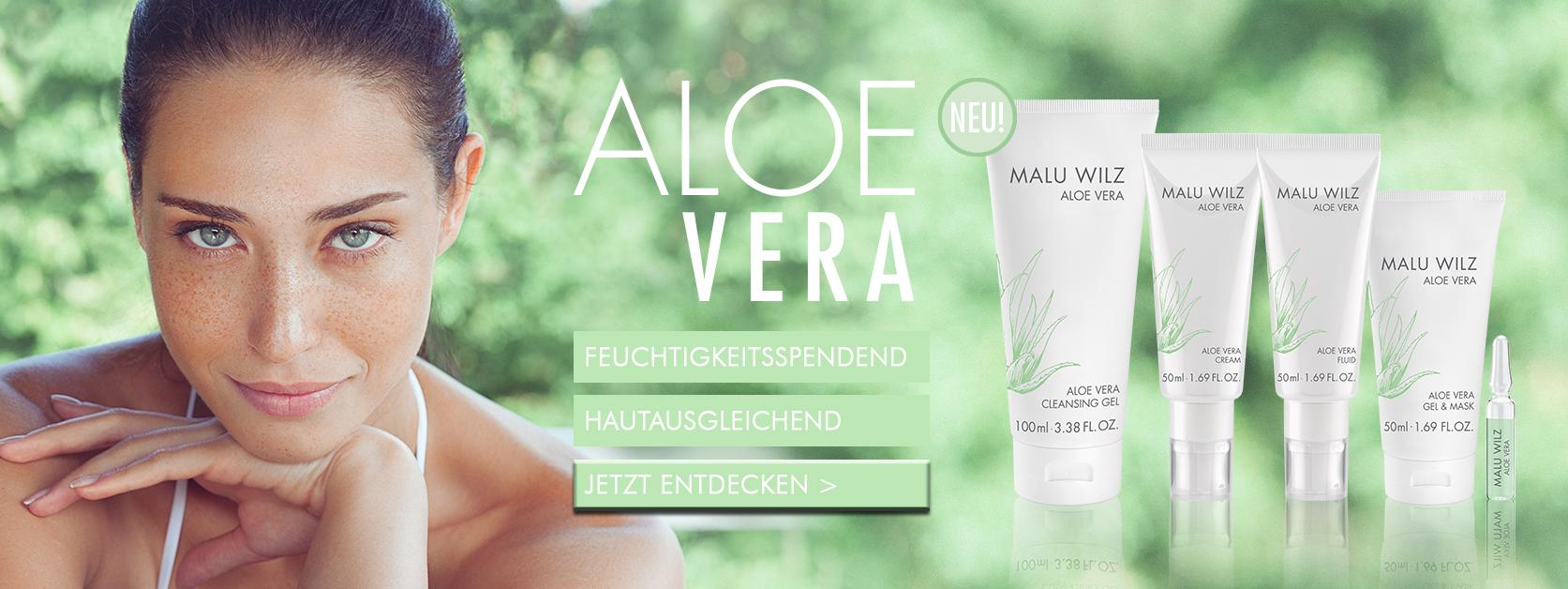 Frau mit Aloe Vera Kosmetik