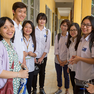 Group of schoolchildren