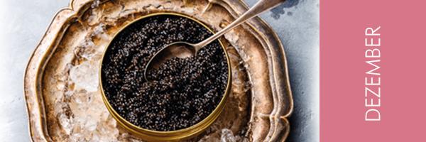 Goldschale mit Caviar